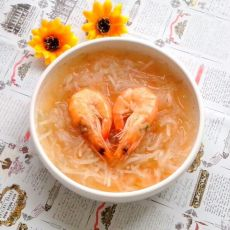 鲜虾萝卜汤