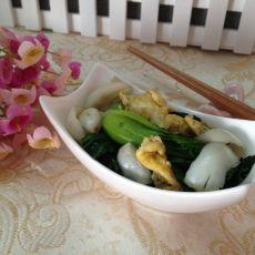 青菜炒百合