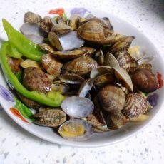 辣椒炒蛤蜊