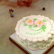 花篮裱花蛋糕