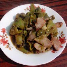 豆角炒肉片