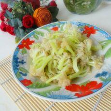 素炒松菜花