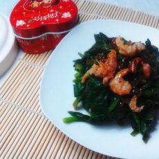 海米菠菜的做法