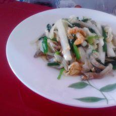 白菜炒韭菜