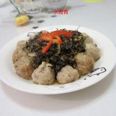 干梅菜蒸丸子的做法