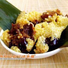 红枣黄米粽的做法