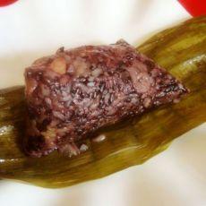 黑糯米花生粽