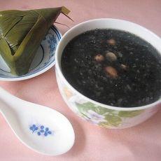 [原创首发]黑芝麻粽子粥-首发的做法