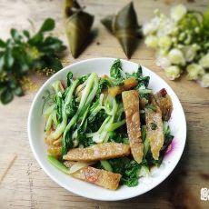 小白菜烧粽子