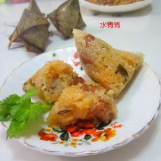 葱香猪肉糯米粽粑