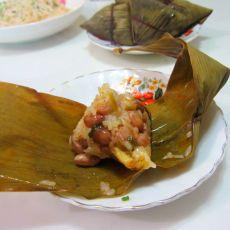 猪肉糯米花生粽子