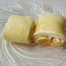 芒果奶油蛋卷