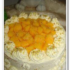 芒果奶油蛋糕的做法