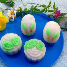 玉兔多彩冰皮月饼