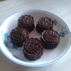 可可绿豆月饼――免烤