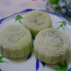 玉豆沙冰皮月饼