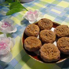紫薯绿豆月饼