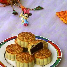 台式蜂蜜紫薯豆沙月饼