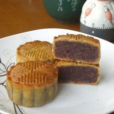 玫瑰红豆沙月饼