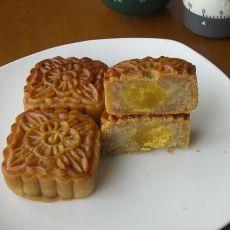 芸豆馅蛋黄月饼的做法