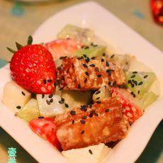 鲜果油条马蹄虾