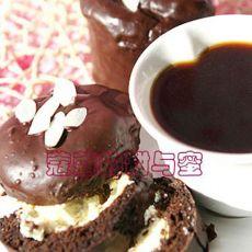芝心巧克力脆皮纸杯蛋糕