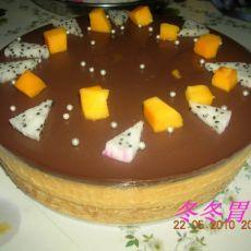 巧克力香芒慕斯蛋糕