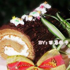 巧克力树干蛋糕卷