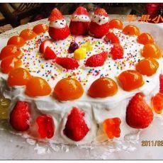 蜜桔奶油蛋糕