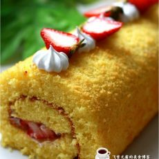 海绵草莓蛋糕卷