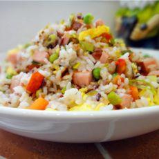 五色炒米饭的做法
