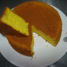8寸圆模南瓜戚风蛋糕
