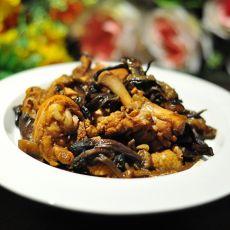 三黄鸡炖榛蘑
