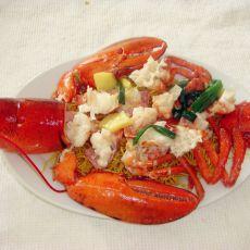龙虾炒面的做法