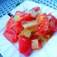 素炒西红柿的做法