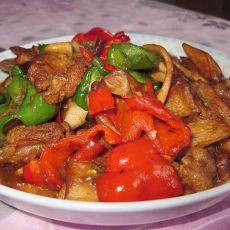 杏苞菇炒肉片