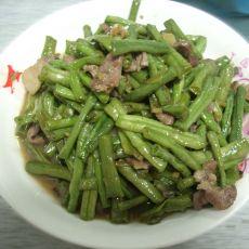 菜豆炒肉的做法