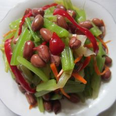 芹菜拌花生