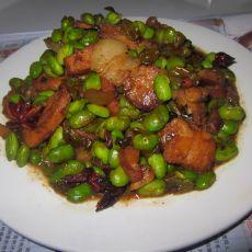 毛豆炒肉片