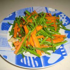 素炒芦笋胡萝卜