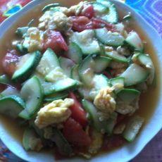 西红柿西胡炒鸡蛋