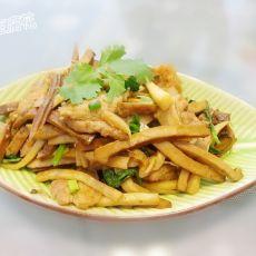肉片炒豆干杏鲍菇