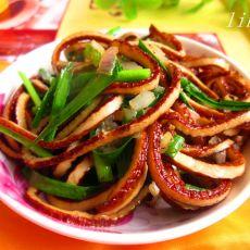 韭菜干丝炒