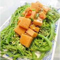 午餐肉拌龙须菜的做法