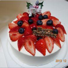 圣诞节草莓蛋糕