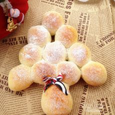 培根圣诞树面包