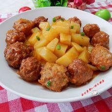 茄汁土豆烧肉丸