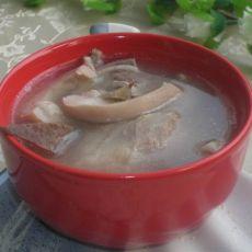 田七花旗参猪肚汤的做法
