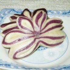 紫薯莲花卷的做法