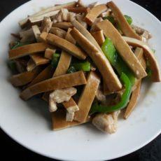 青椒肉丝炒香干的做法